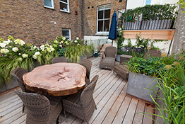 South Kensington rooftop garden